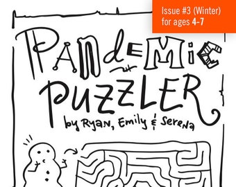 Pandemic Puzzler #3 (ages 4-7: an Activity Book) - Fundraiser