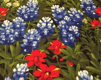 Texas bluebonnets etsy texas flowers moda wildflower basic texas indian paintbrush and bluebonnets texas bluebonnet 100 cotton fabric by the yard mightylinksfo