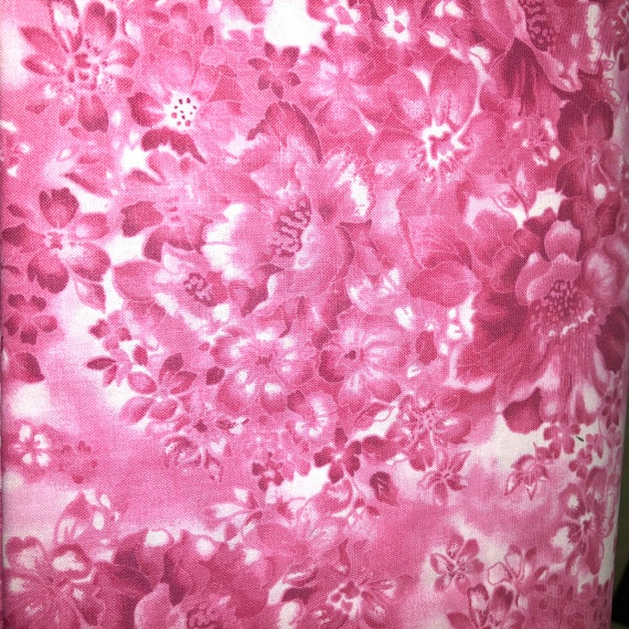 100/% Cotton MDG Faded Floral Pink