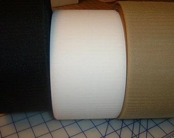 4 inch wide Generic Hook and Loop Fastener - white, black, beige - 1 foot of each