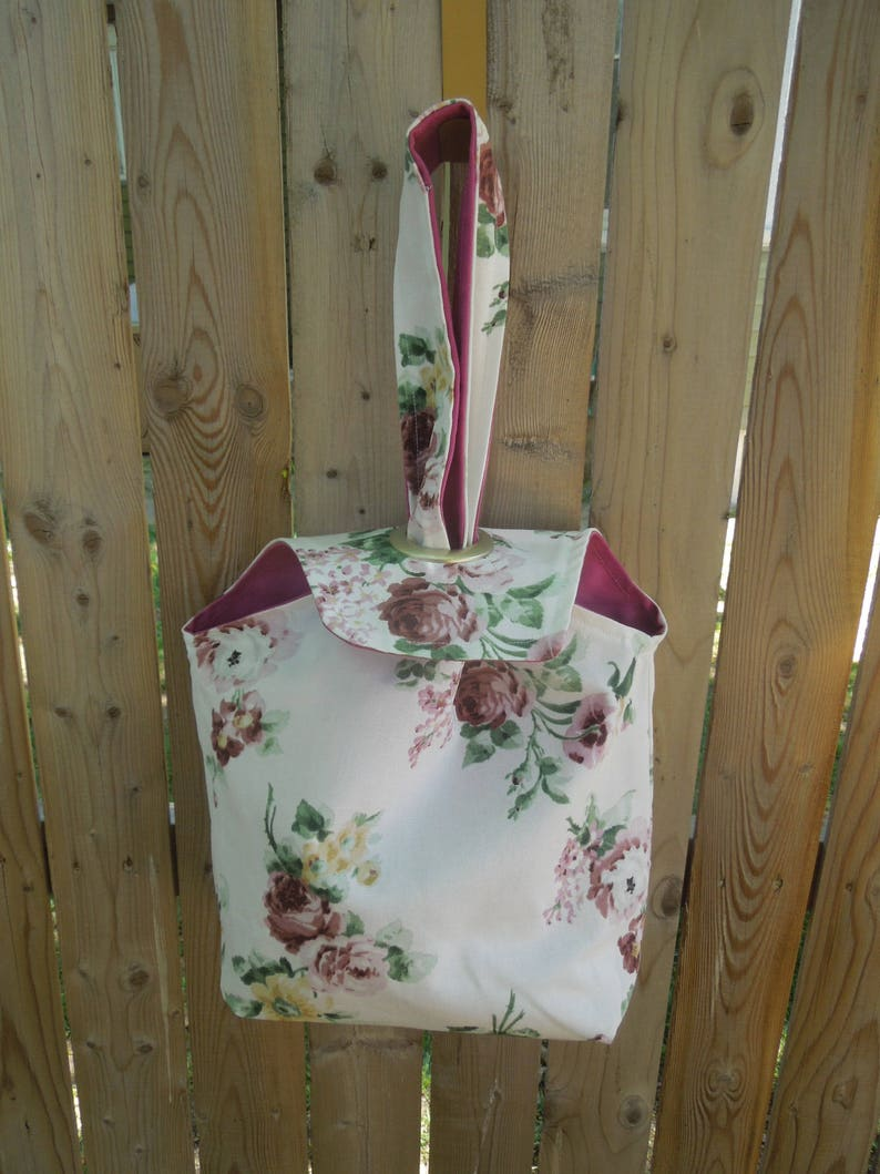 Project Bag Grommet Bag,Tote-Pink Roses