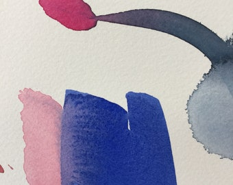 Loose watercolor abstract painting