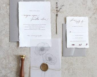 Custom Wedding Invitations and Stationery by JenSimpsonDesign
