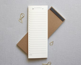 To Market // Note Pad, Grocery List, List Note Pad, Grocery List, Personal Stationery, Personal Organization, Magnet Note Pad