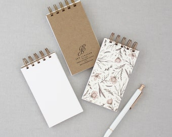 Floral Note Pad // Mini Notebook, Flowers Notepad, Pocket Note Pad, Stay Inspired, Small Gift, Cute Gift, Task Organizer, Desk Organization