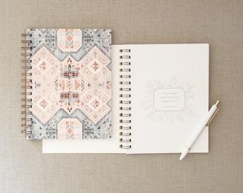 Arwen Journal // Pattern Notebook, Journal, Boho Journal, Anxiety Journal, Therapy Journal, Lined Journal, Notebook