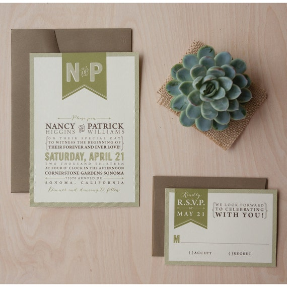 Outdoor Wedding Invitation Wording: Items Similar To Rustic Wedding Invitation