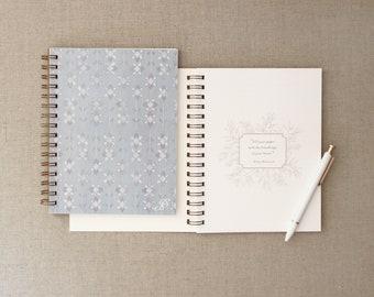 Iris Journal // Pattern Notebook, Journal, Boho Journal, Anxiety Journal, Therapy Journal, Lined Journal, Notebook
