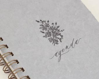 Agenda // Weekly Planner, Planner, Calendar, Vintage Botanical, Audubon Notebook, Handmade paper, notepad, Task Organizer, Desk Organization