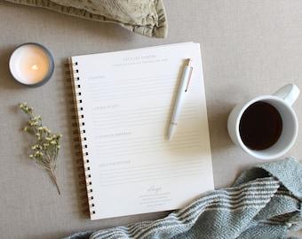Happiness Journal // Positivity Journal, Gratitude Journal, Mindfulness Journal, Self Care Journal, Anxiety Journal, Reflection Journal