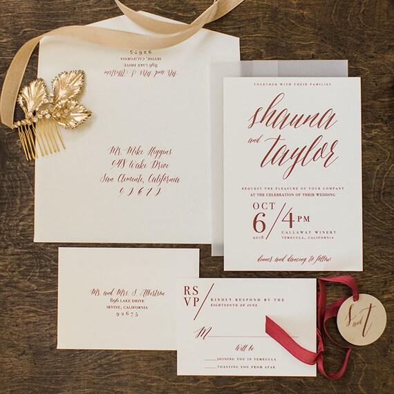 Wedding Invitation Packages Canada: Vellum Wedding Invitation Wedding Invitation Set Modern