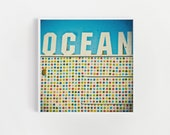 Typography Print, Ocean Art, Summer Wall Art, Colorful Decor, Sign Art Print - Ocean