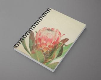 Botanical Spiral Notebook - Pink Ice