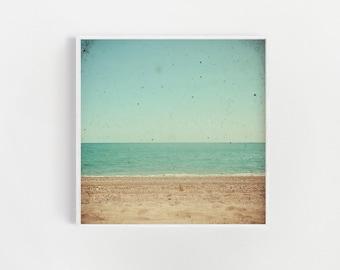 Beach Photography, Seascape, Coastal Decor, Bathroom Wall Art - Footprints