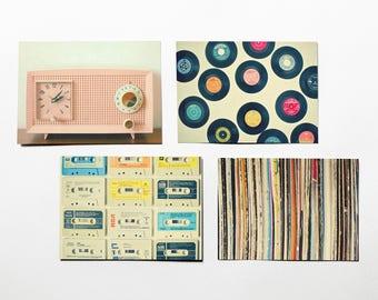 Music Postcards With Black Envelopes, Retro Postcards, Affordable Art - Easy Listening