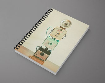 Spiral Notebook for Photographer - Tower of Cameras