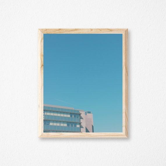 Architettura arte stampa parete blu minimal art summer in for Minimal architettura