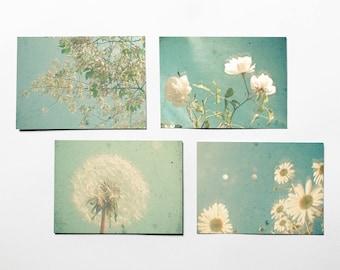 Flower Postcards, Mom Gift, Stationery Set - Garden