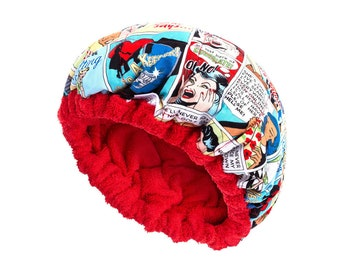 Deep Conditioning Heating Caps - Natural Hair Conditioner - Thermal Heat Cap - Flaxseed Filled - COMIC Reversible Hot Head