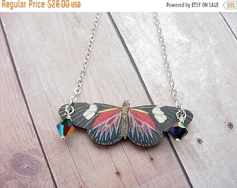destash Butterfly Necklace in Red and Black