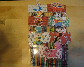 Alice In Wonderland Made To Order Crayon Favor Bags