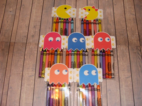 Pacman Made To Order Crayon Favor Bags