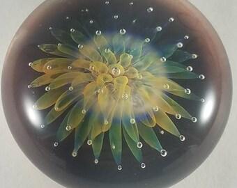 Fumed sea anemone pendant