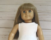 Clothes to fit AMERICAN GIRL DOLLS, Embroidered Denim Maxi Skirt and White Top Fit American Girl Dols