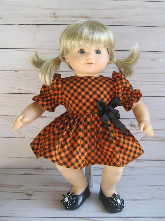 3fc7d84931b Doll Clothes-Made for BITTY BABY Dolls, HALLOWEEN Orange & Black Plaid  Dress Bitty Baby and Bitty Twins Dolls