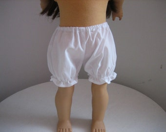 Doll Clothes Made For American Girl Dolls,  White Bloomers fit AMERICAN GIRL DOLLS