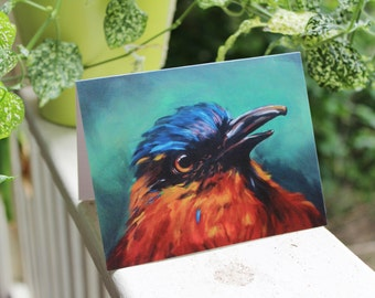 "Tropical Bird Card - 4.25x5.5"" (A2)"