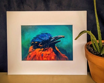 """Tropical Bird Print (matted to 8x10"""")"""