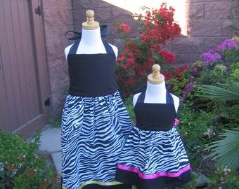 Zebra Halter Dress