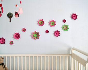 NEW 12 3D Lotus Flowers wall decor