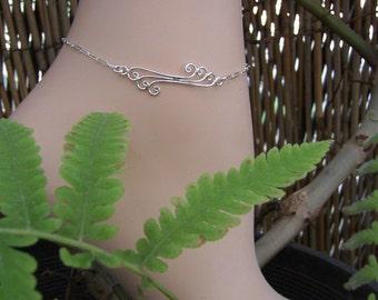 Sterling Silver Anklet, Silver Ankle Bracelet