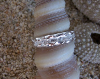 Sterling Silver Ring, Sterling Silver Band, Silver Wedding Band