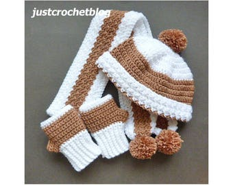 4550e2401865 Crochet Winter Set Crochet Pattern (DOWNLOAD) 157BFJC