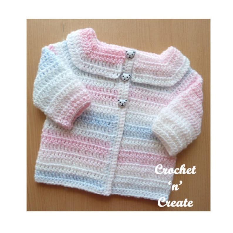 faf3cf2e4 Easy Peasy Cardigan Baby Crochet Pattern DOWNLOAD CNC30