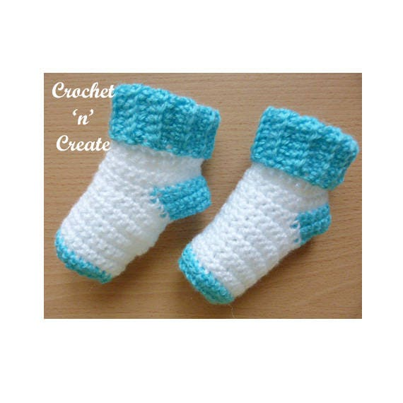 Baby Socks Crochet Pattern Download P64 Etsy