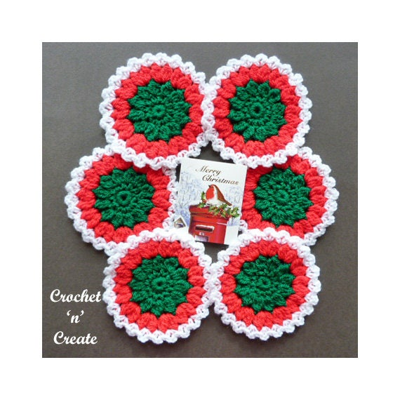 Christmas Coasters Crochet Pattern Download Cnc78 Etsy