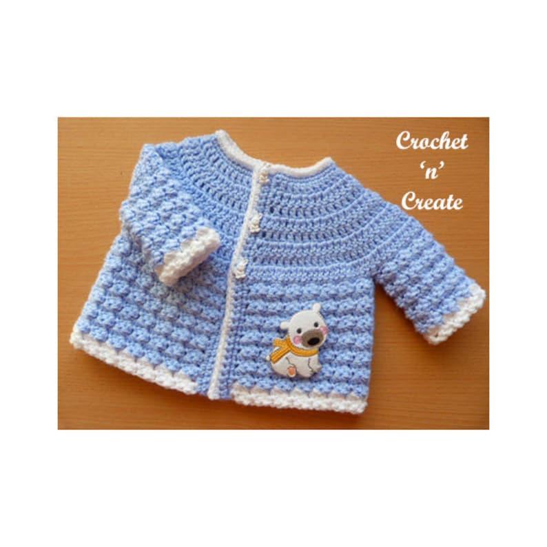 0336876a8 Tommy s Crochet Jacket Baby Crochet Pattern DOWNLOAD