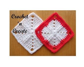 Afghan Square Crochet Pattern (DOWNLOAD) CNC06