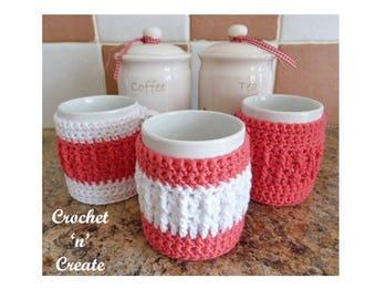Cosy Mug Warmer Crochet Pattern (DOWNLOAD) CNC68