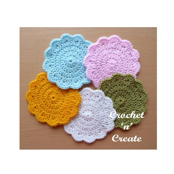 Circular Coaster Crochet Pattern Download Cnc28 Etsy