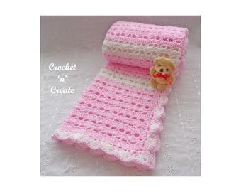 Crochet Sweetheart Baby Blanket Crochet Pattern (DOWNLOAD) P10