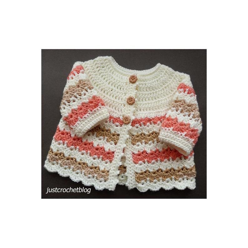 Crochet Pretty Coat Crochet Pattern DOWNLOAD 01BFJC image 0
