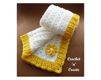 Crochet Summer Baby Blanket Crochet Pattern (DOWNLOAD) CNC184