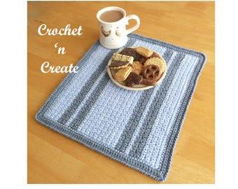 Grit Stitch Placemat Crochet Pattern (DOWNLOAD) CNC29