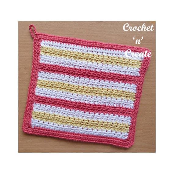 Crochet Thick Potholder Crochet Pattern Download Cnc113 Etsy