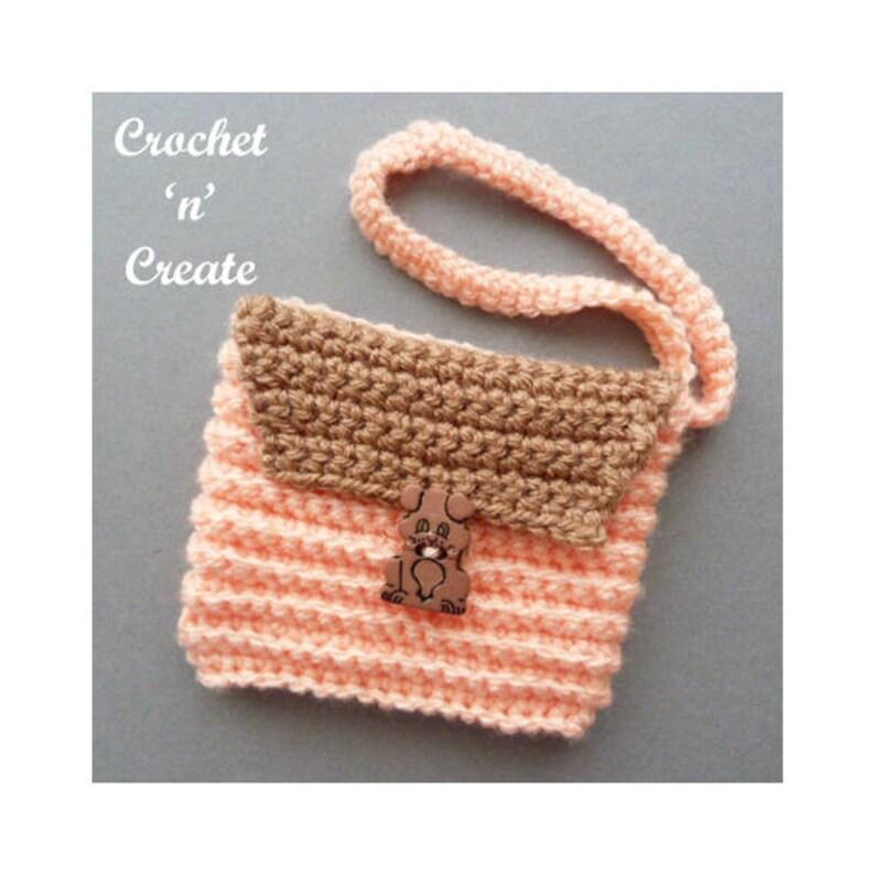 Crochet Ribbed Wrist Purse Crochet Pattern DOWNLOAD CNC88 image 0